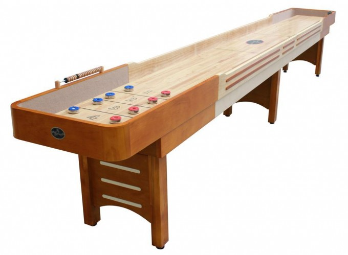 Brown Wooden Shuffleboard Table For Sale For Home Game Ideas