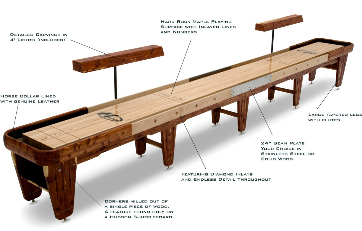 brown wooden shuffleboard table for sale for traditional game ideas