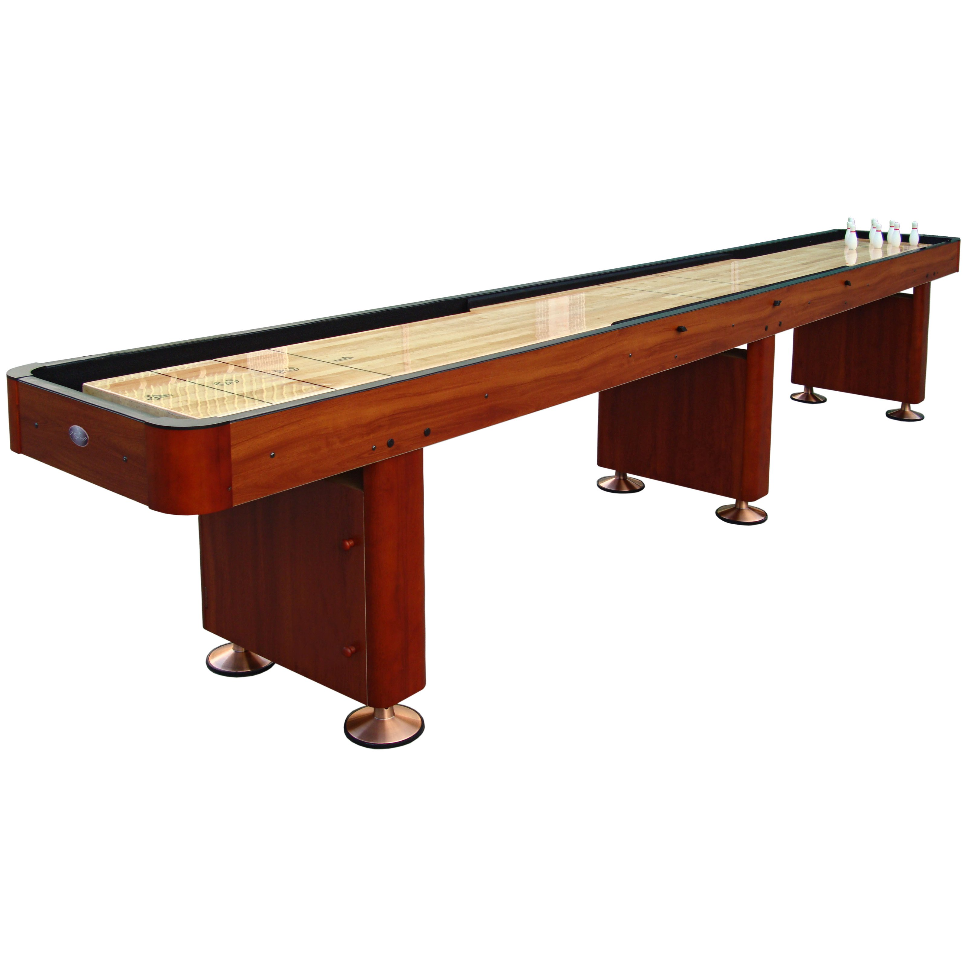 brown wooden shuffleboard table for sale