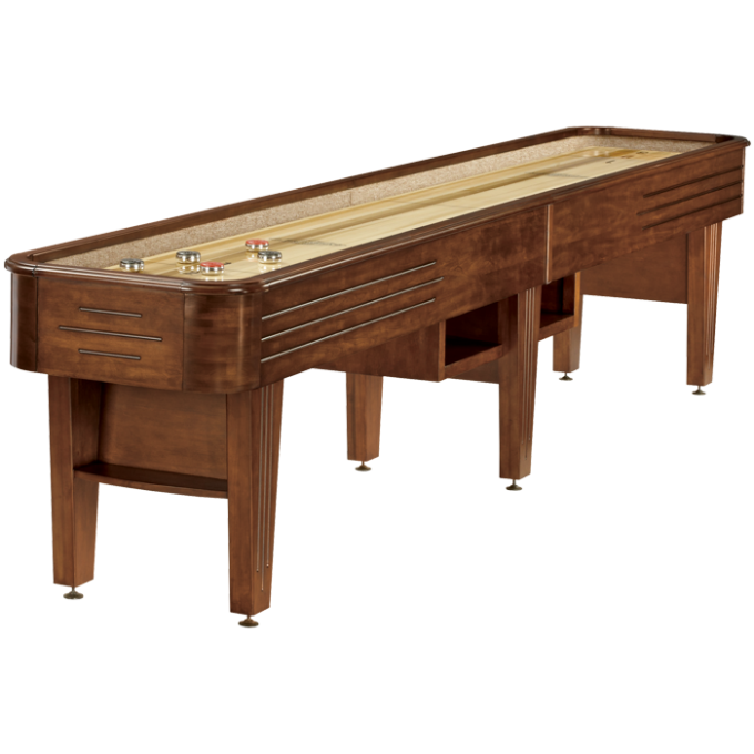 Brown Wooden Traditional Game Shuffleboard Table For Sale