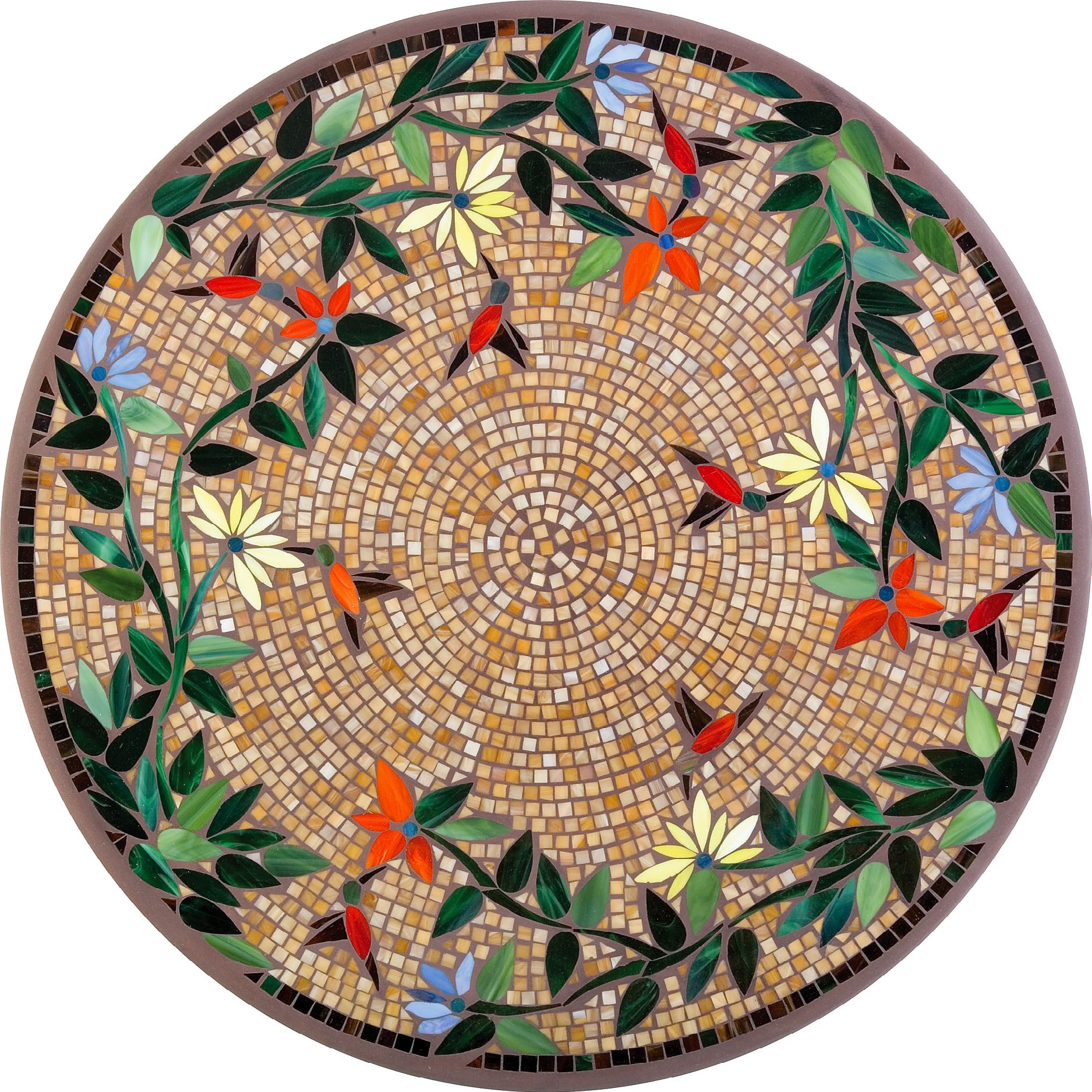 Caramel Hummingbird Mosaic Bistro Table For Wonderful Patio Furniture Ideas