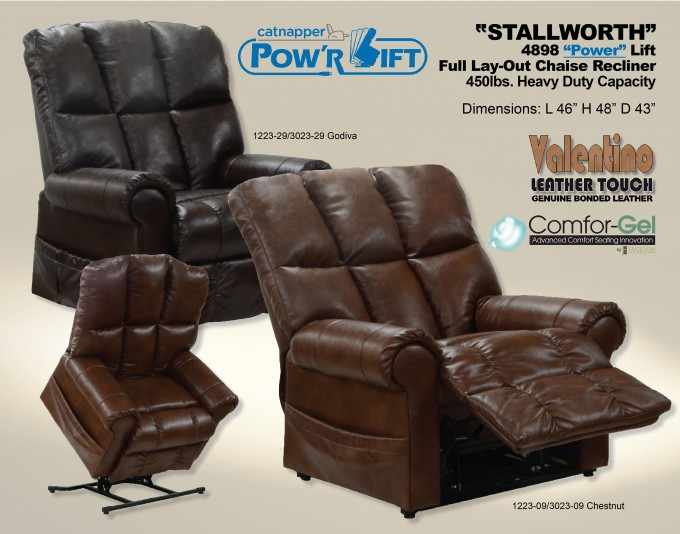 Catnapper Stallworth Leather Power Lift Recliners For Home Furniture Ideas