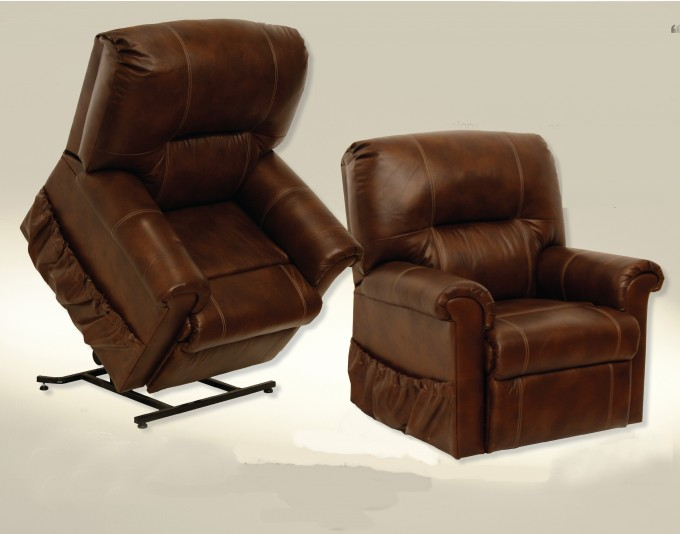 Catnapper Vintage Leather Power Lift Recliners CN9779 In Brown For Home Furniture Ideas