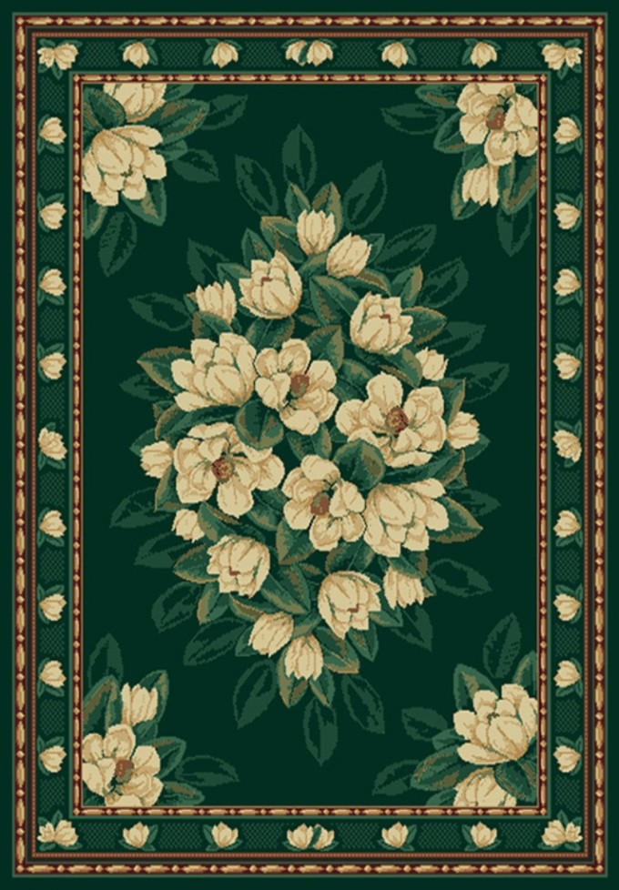 Charming 5x7 Area Rugs In Green With Charming Flowers Motif For Floor Decor Ideas