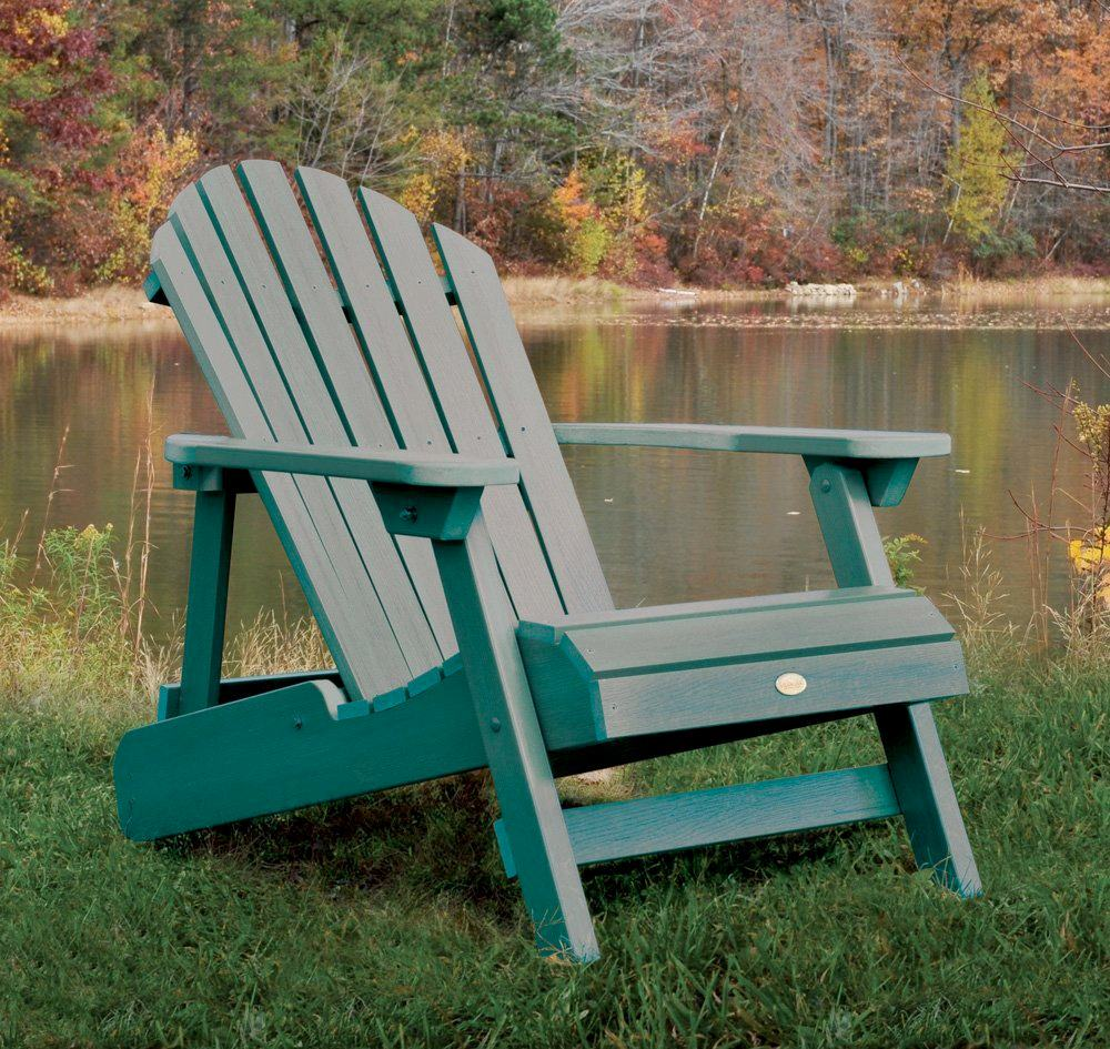 charming and unique teak adirondack chairs in green with arm for outdoor furniture ideas
