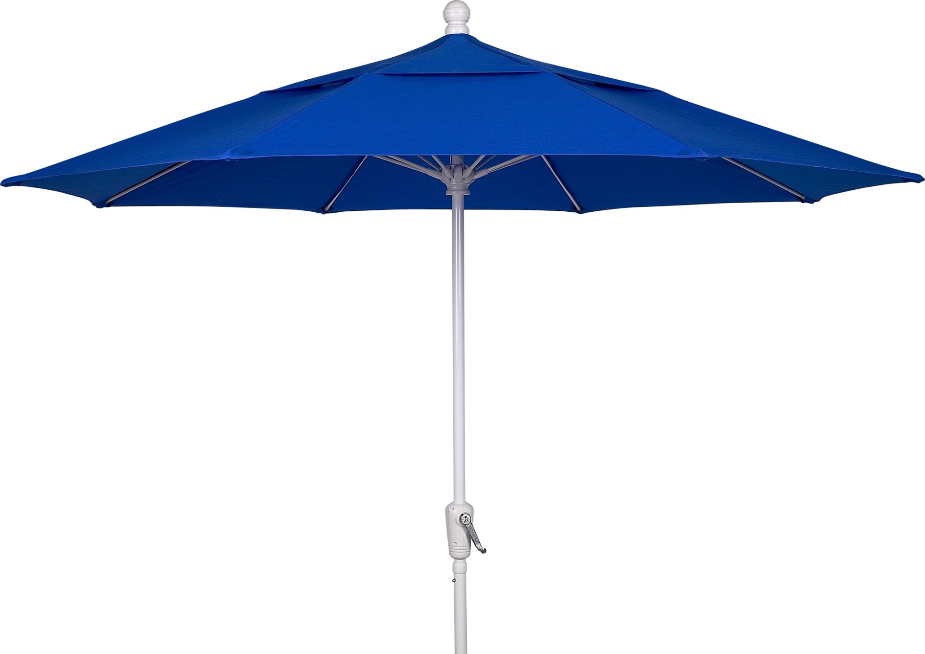 charming cantilever patio umbrella in blue with white metal stand for patio furniture ideas