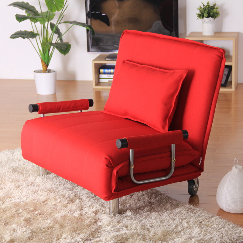 Charming Cheap Futons In Red On Wooden Floor Plus Carpet For Home Decor Ideas