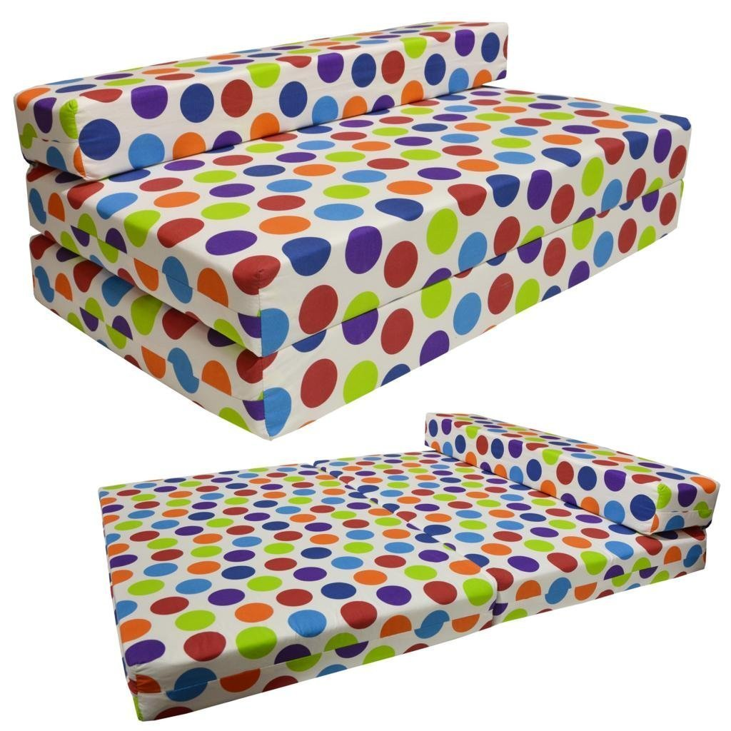charming cheap futons with colorful dotted for home furniture ideas