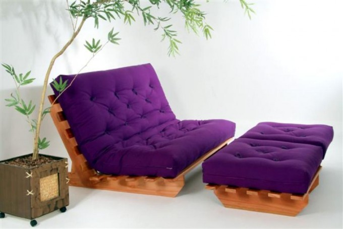 Charming Cheap Futons With Purple Seat For Home Furniture Ideas