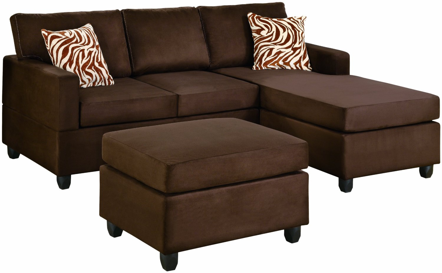 charming cheap sectional sofas in brown plus brown ottoman for living room furniture ideas