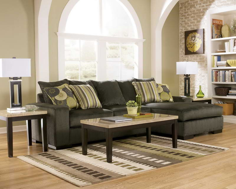 charming cheap sectional sofas in dark grey on wooden floor plus cushions and carpet for living room decor ideas