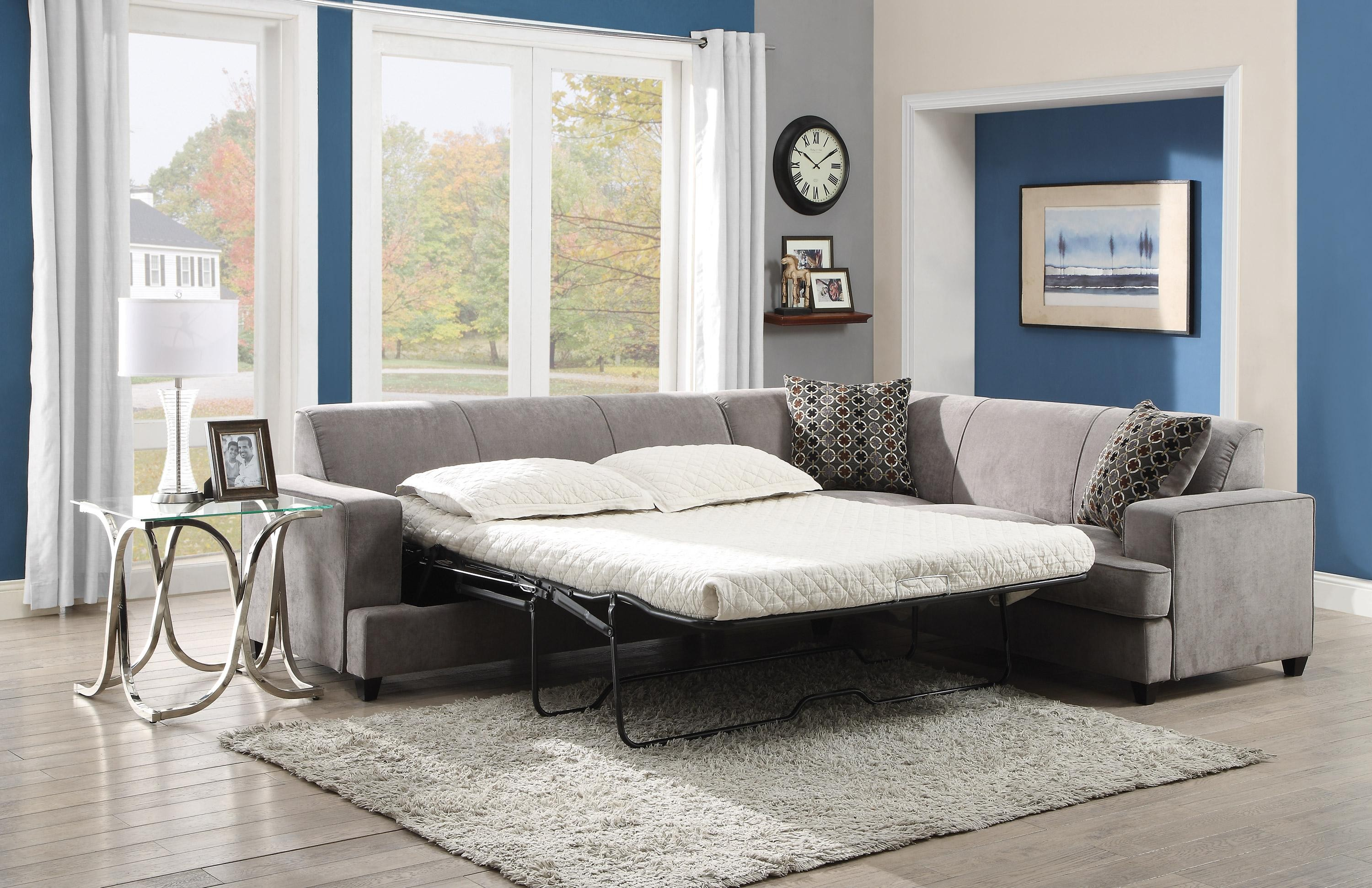 charming cheap sectional sofas in grey with white bedding on wooden floor plus wheat carpet matched with blue wall for living room decor ideas