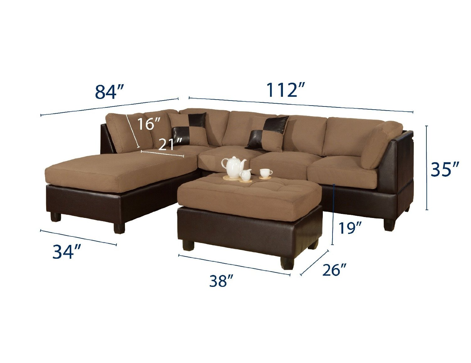 charming cheap sectional sofas in tan and dark brown for living room furniture ideas