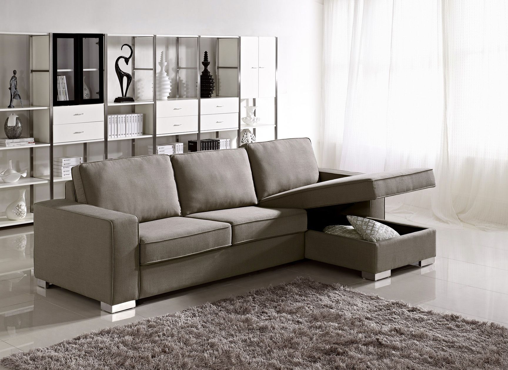 charming cheap sectional sofas in tan with storage on tan ceramics floor plus brown carpet for living room decor ideas