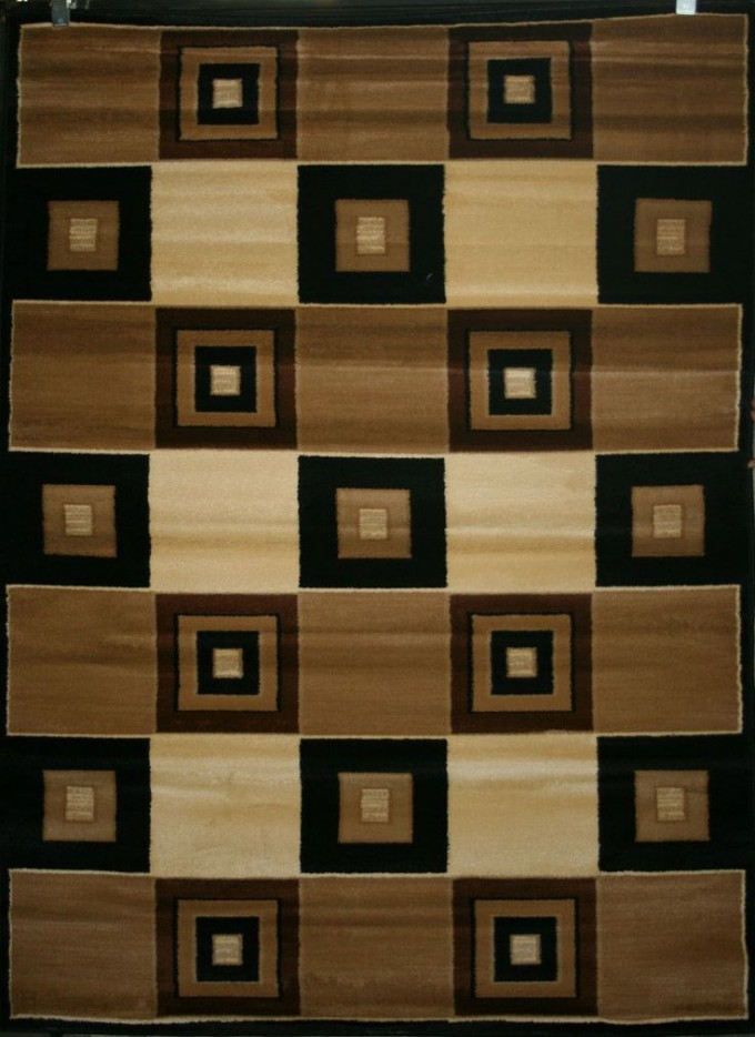 Charming Checked 5x7 Area Rugs With Brown Dominated For Floor Decor Ideas