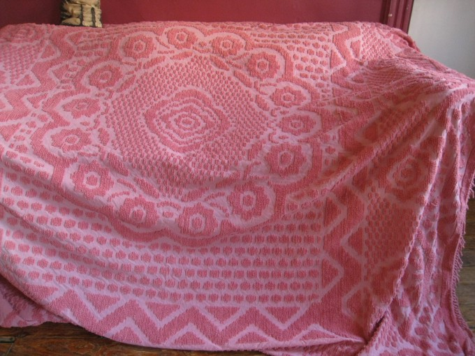 Charming Chenille Blanket In Solid Pink For Charming Blanket Ideas
