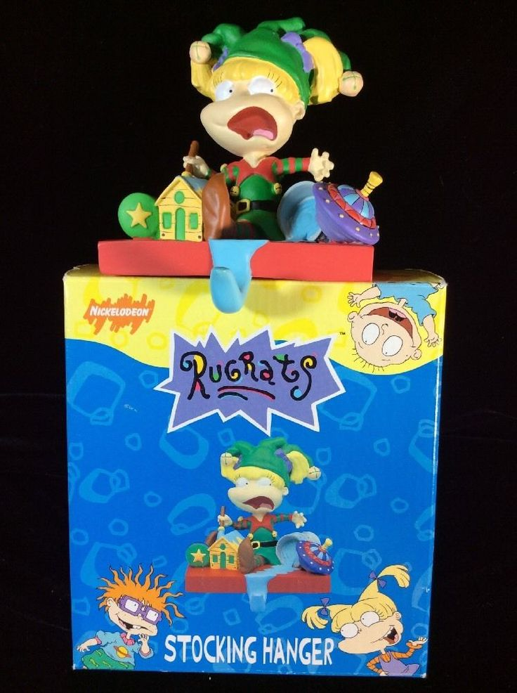 charming christmas stocking hanger in rugrats by nickelodeon gift design for christmas decoration ideas