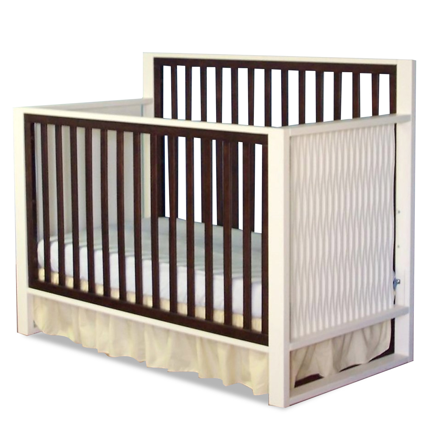 charming crib in white and brown by munire crib for nursery furniture ideas