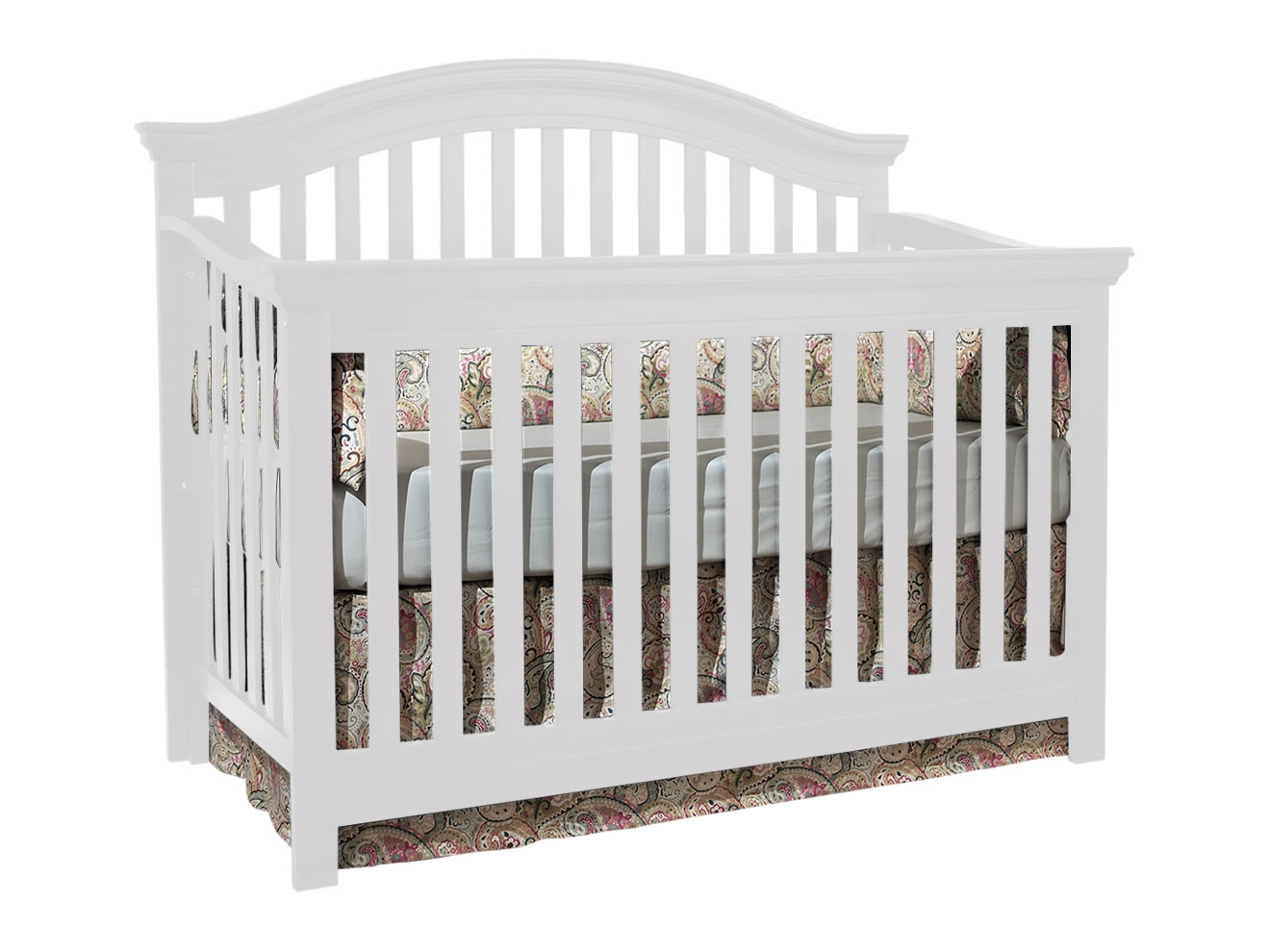 charming crib in white by munire crib for nursery furniture ideas