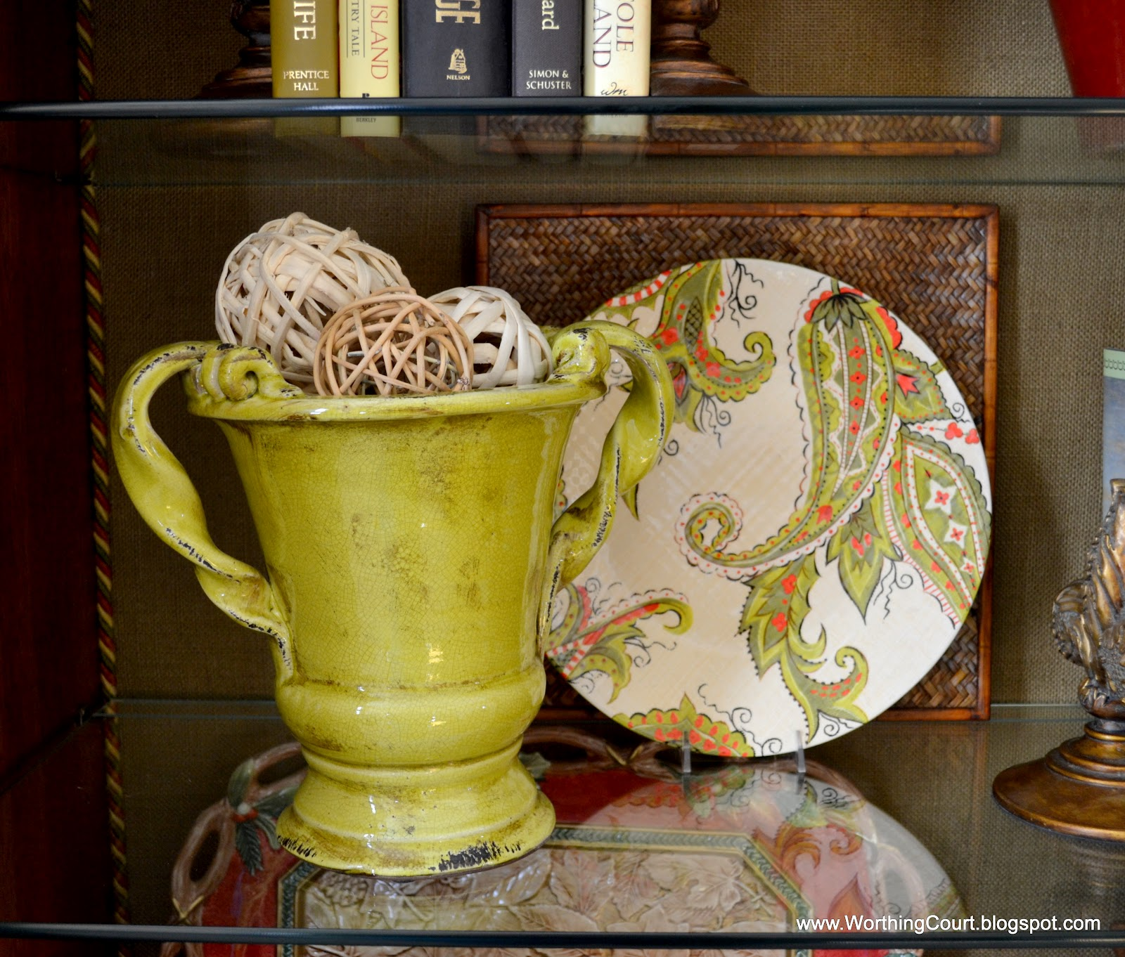 charming decorative orbs in green cup for table accessories ideas