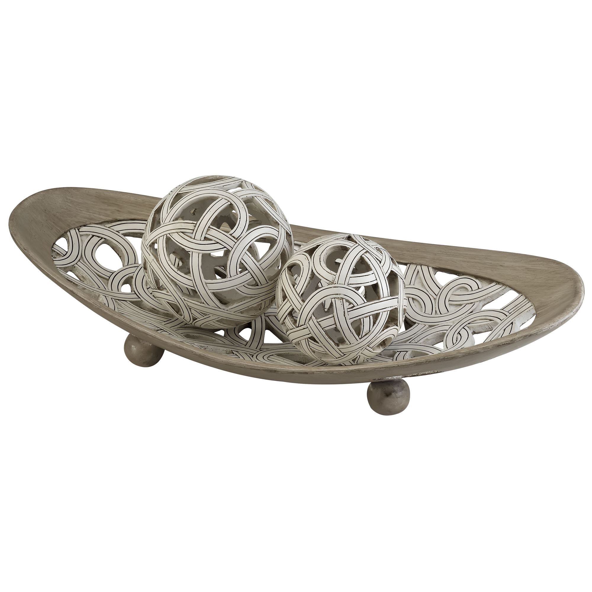 charming decorative orbs in wheat with matching bowl for charming table accessories ideas