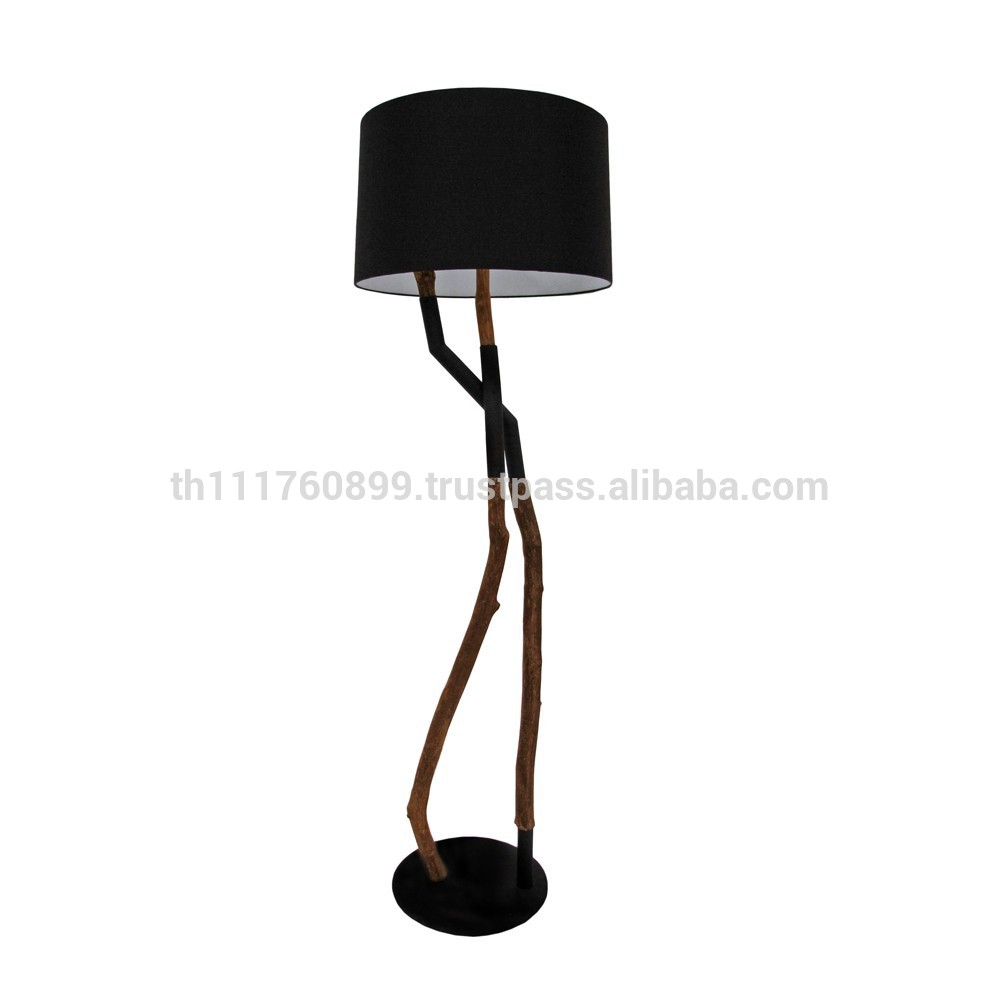 charming driftwood floor lamp in black theme for home furniture ideas