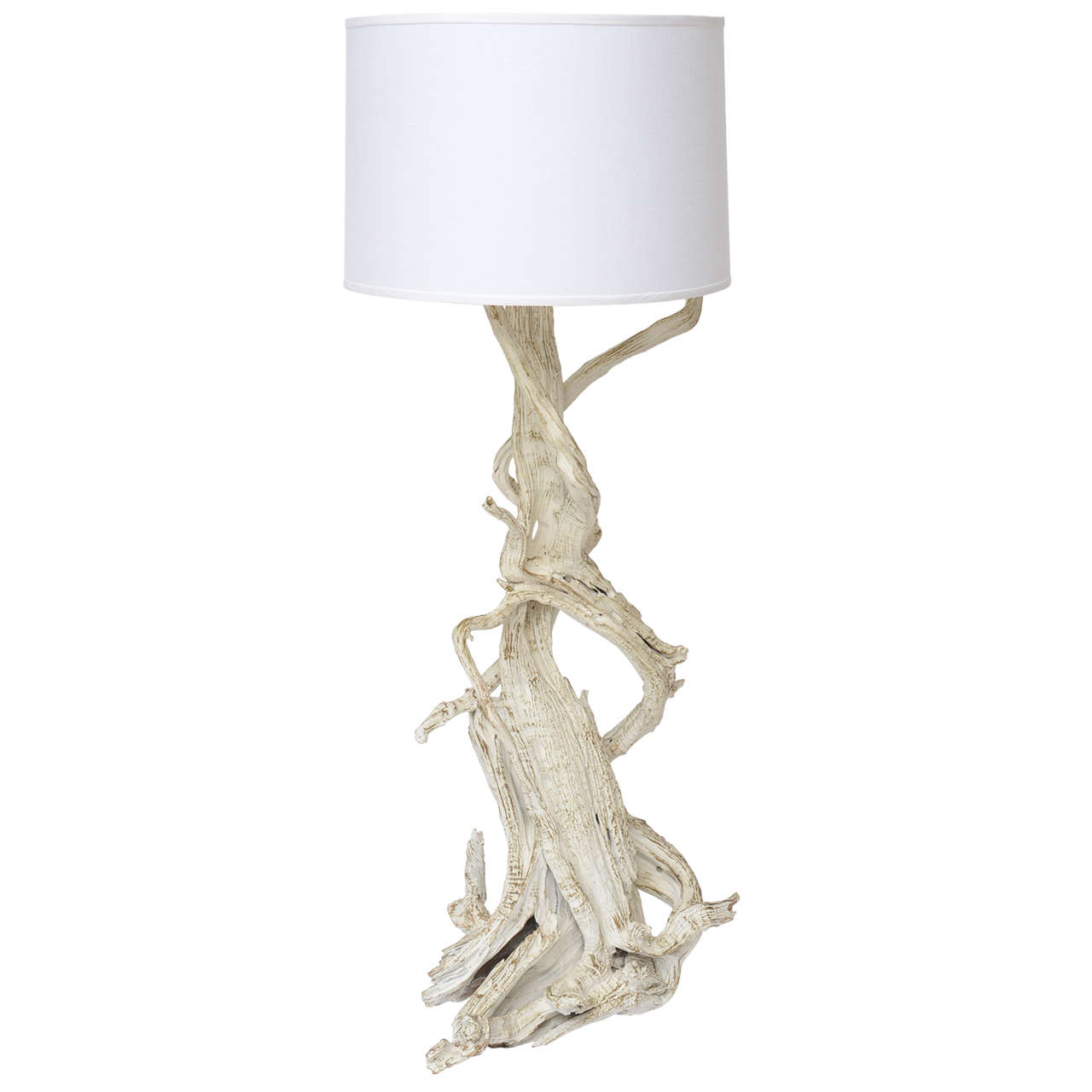 charming driftwood floor lamp in white theme for inspiring home furniture ideas