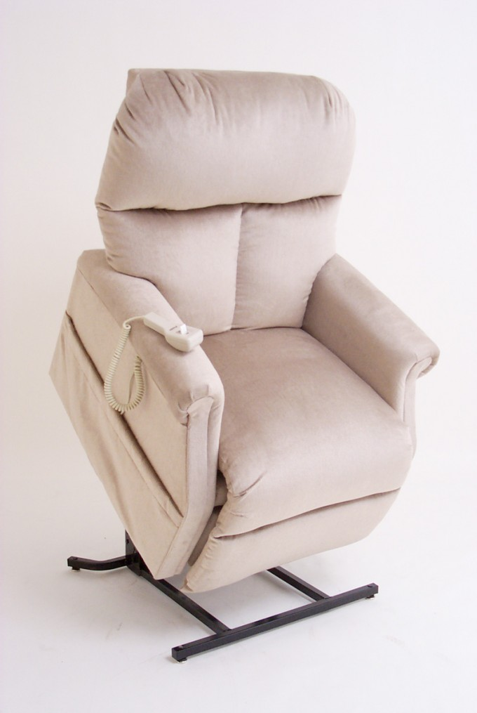 Charming Fabric Power Lift Recliners In White With Pocket For Home Furniture Ideas