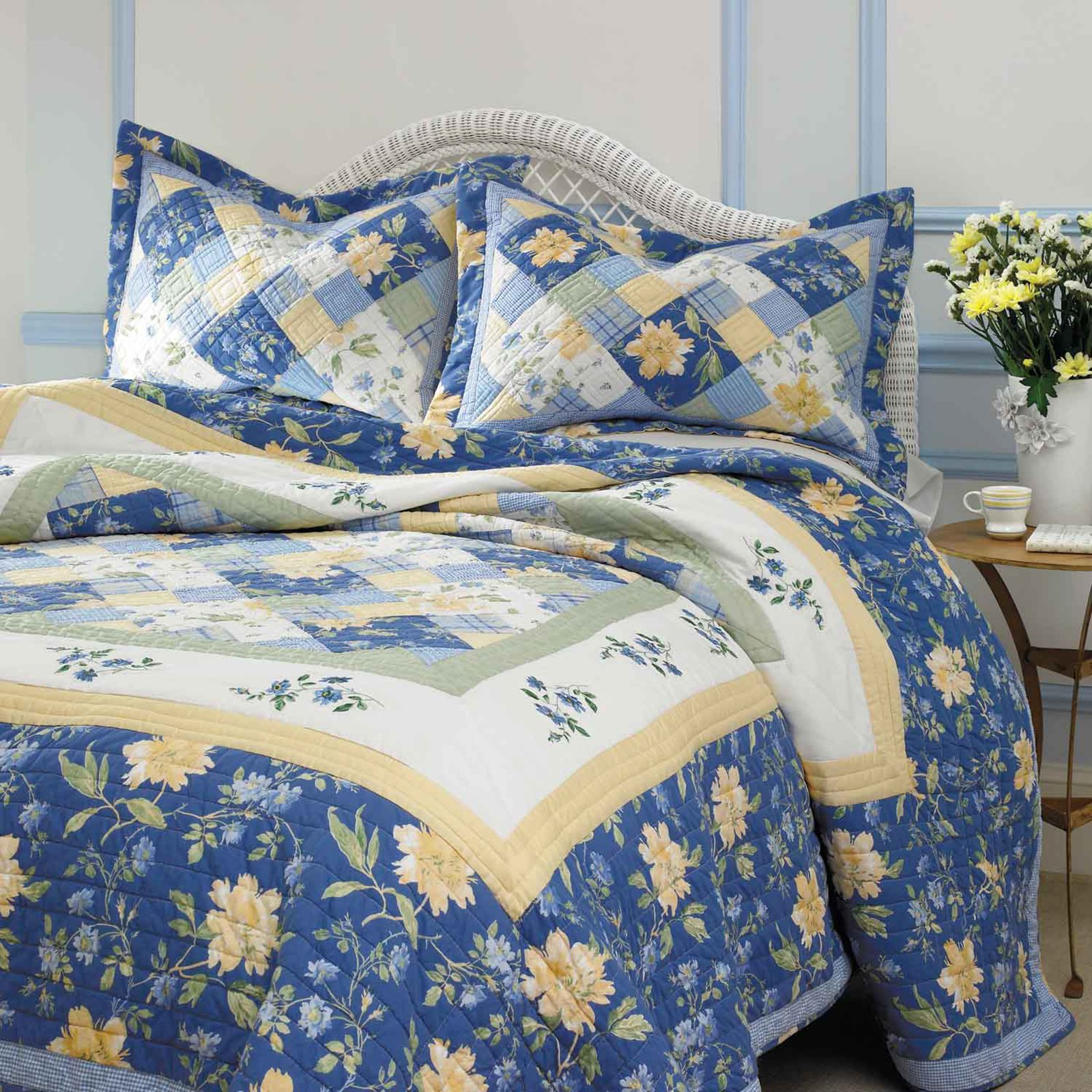 charming Laura Ashley bedding in blue and flowers motif for bedding ideas