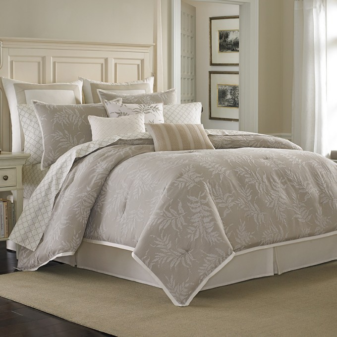 Charming Laura Ashley Bedding In Wheat And Flower Motif With White Headboard For Bedding Ideas