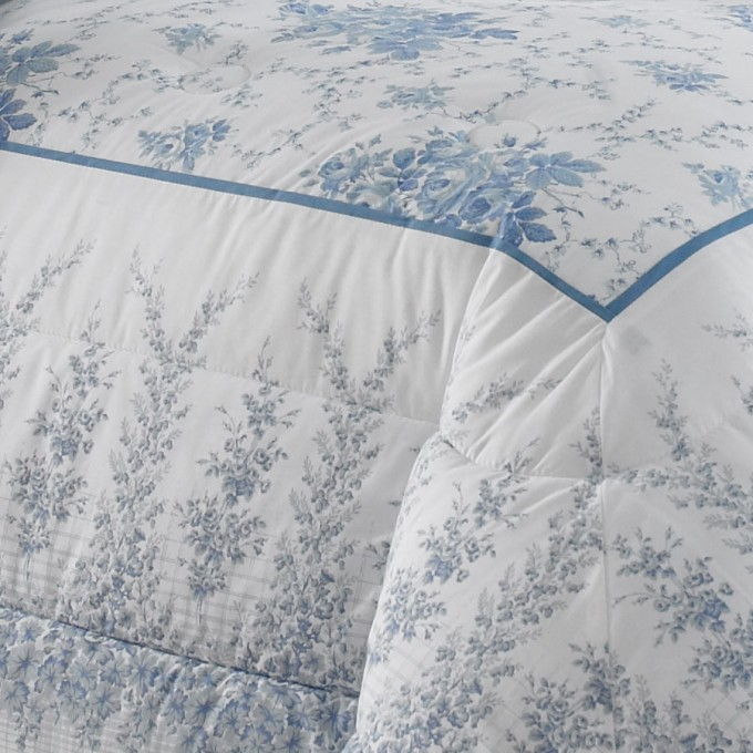 Charming Laura Ashley Bedding In White And Blue Floral Pattern For Bed Ideas