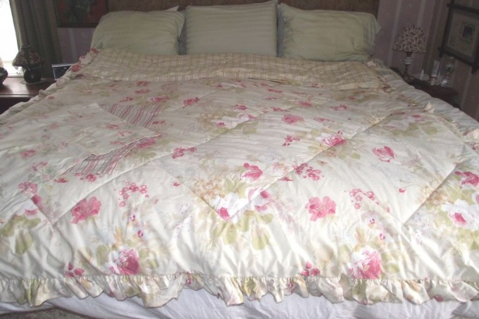 Charming Laura Ashley Bedding In White With Flower Motif For Bedding Ideas