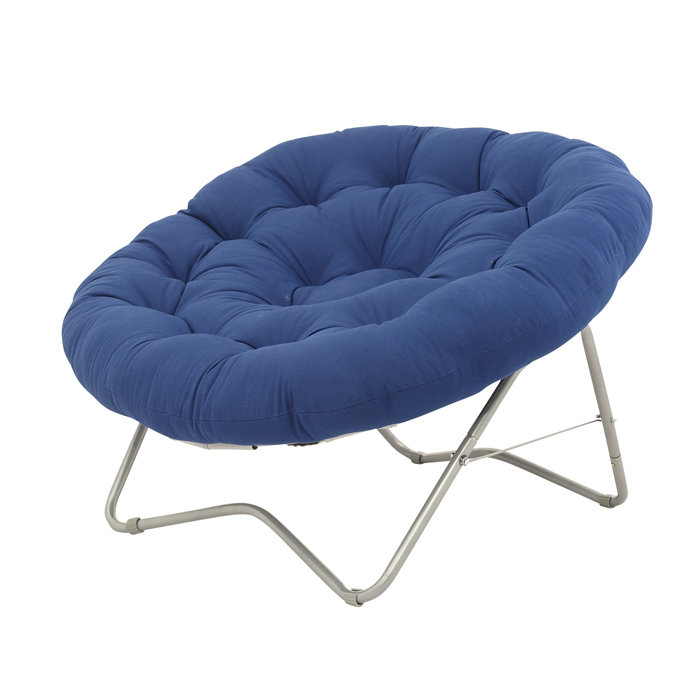 Charming Outdoor Papasan Chair With Metal Legs And Blue Cushion Seat For Charming Furniture Ideas