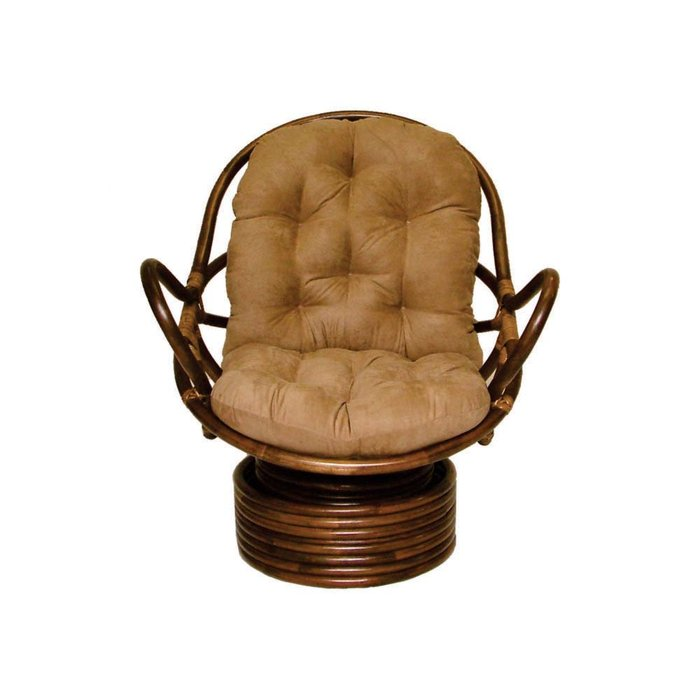 charming rattan outdoor papasan chair with arm and brown cushion seat for charming furniture ideas