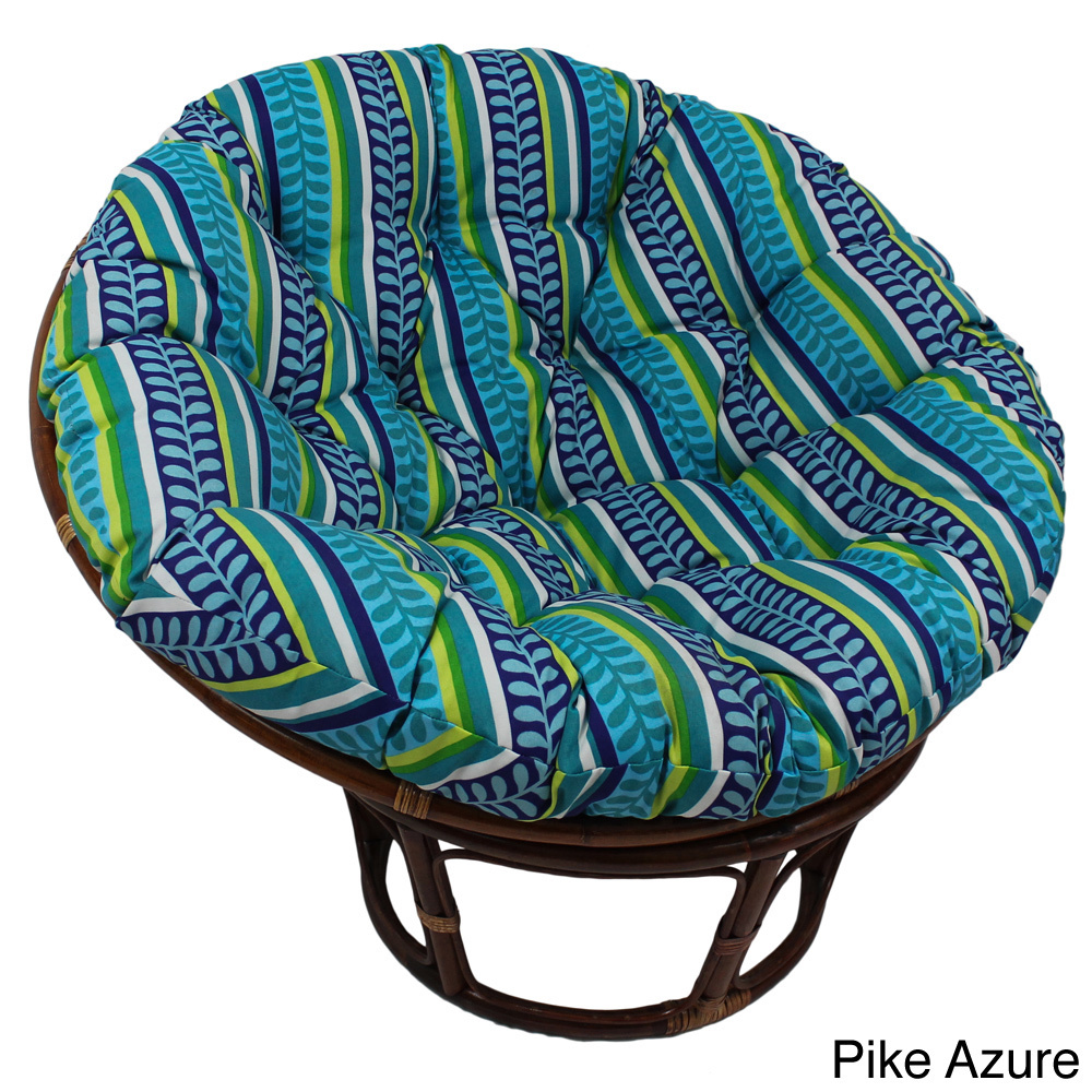 Charming Rattan Outdoor Papasan Chair With Cushion Seat In Multicolor For Charming Furniture Ideas