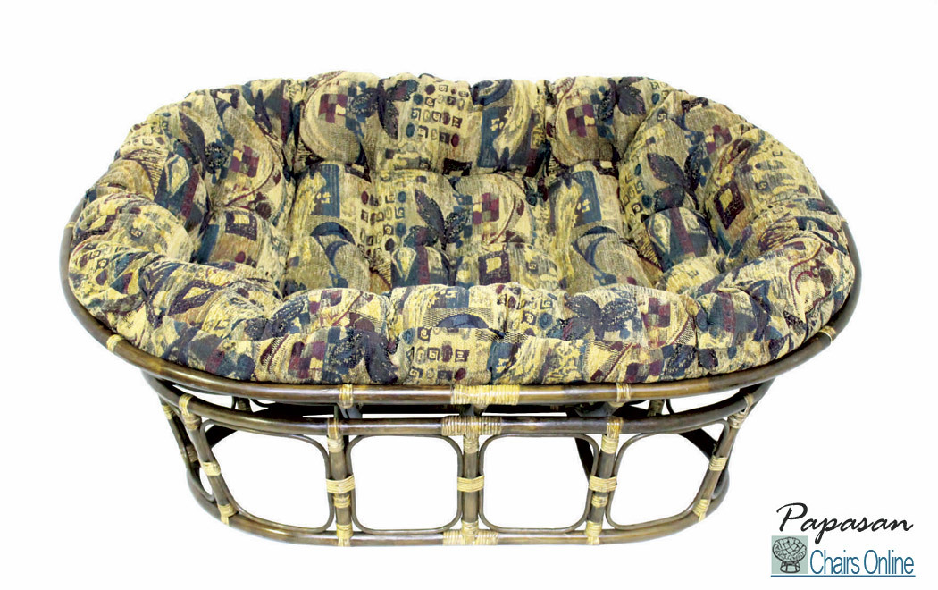 charming rattan outdoor papasan chair with multicolor cushion seat for charming furniture ideas