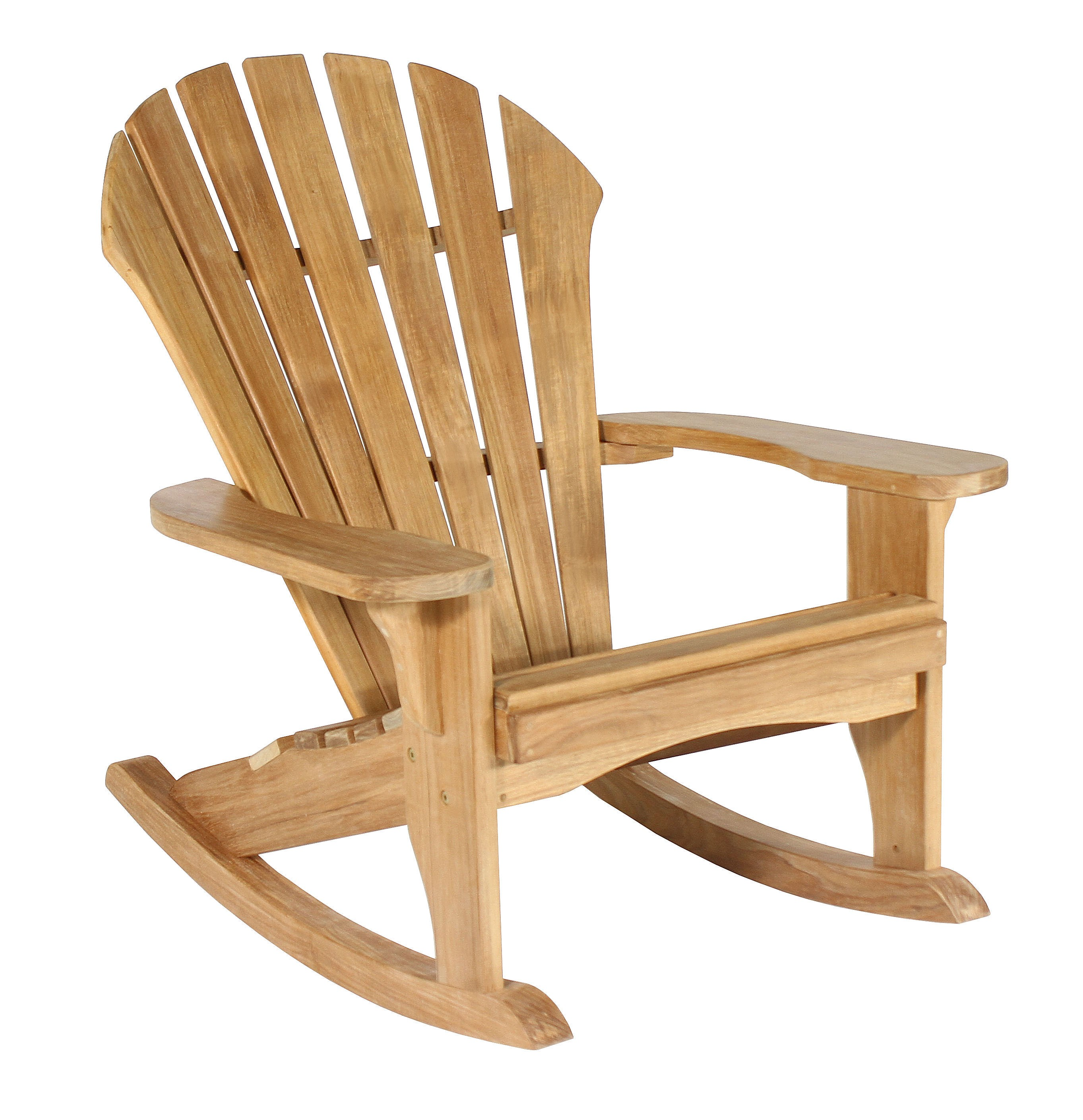 charming rocking Teak Adirondack Chairs for outdoor furniture deas