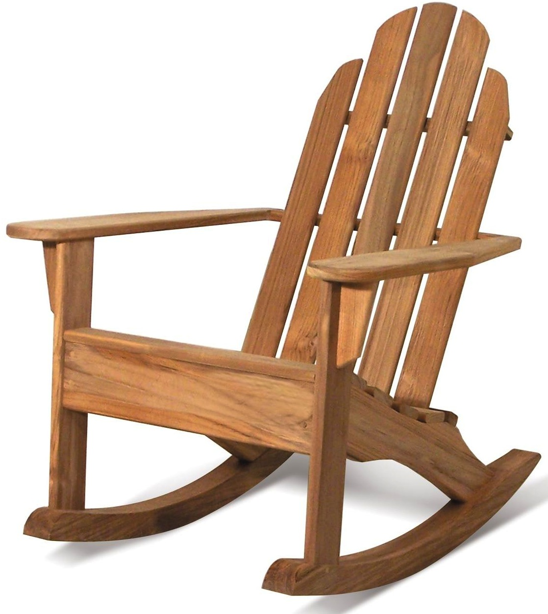 charming rocking teak adirondack chairs in brown for outdoor furniture ideas