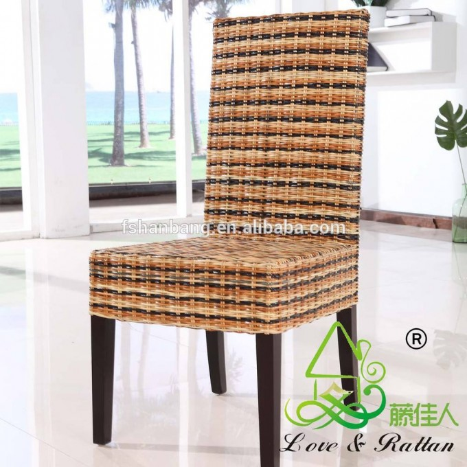 Charming Seagrass Dining Chairs With Black Legs For Dining Room Furniture Ideas