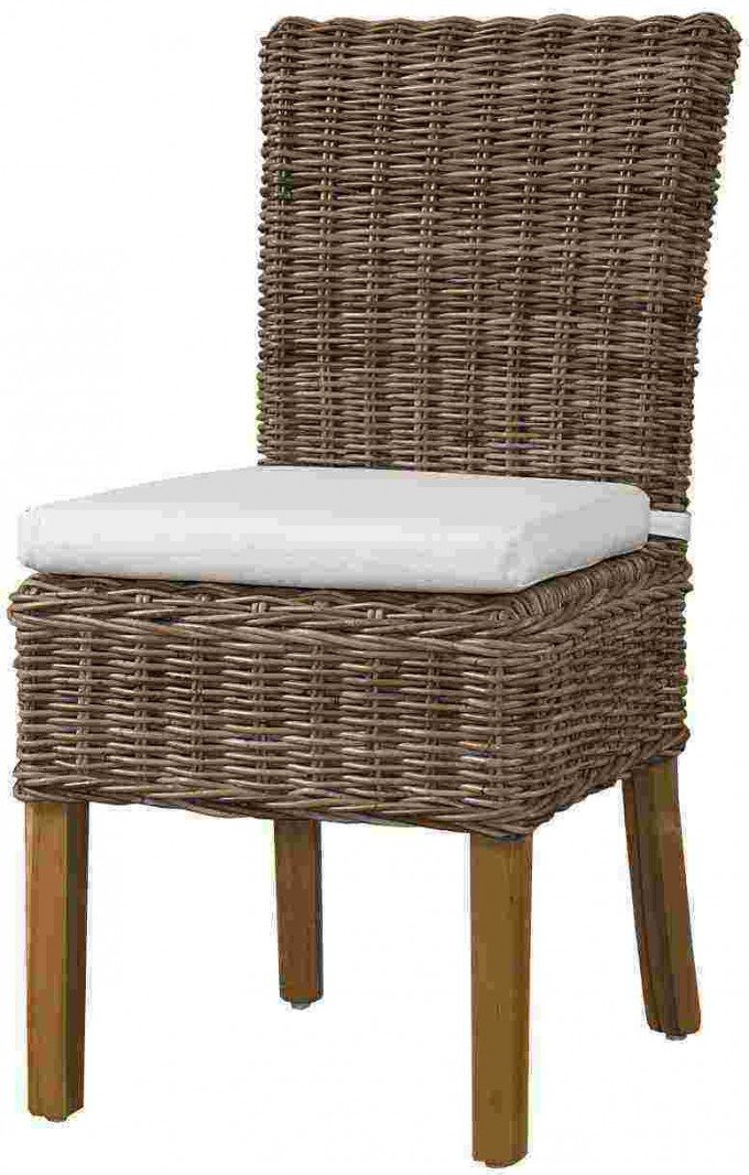 Charming Seagrass Dining Chairs With Sandy Brown Legs Plus White Cushion Seat For Dining Room Furniture Ideas
