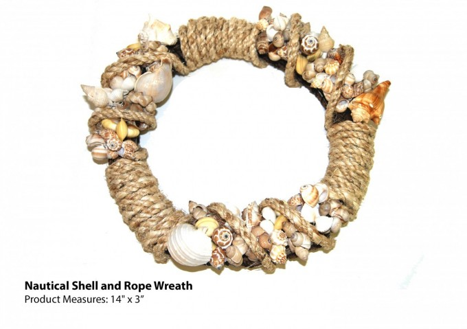 Charming Seashell Wreath Decor In Mocca Theme For Home Accessories Ideas