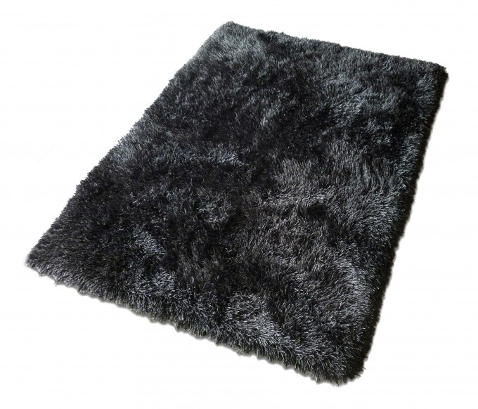 Charming Shag Rugs In Black For Floor Decor Ideas
