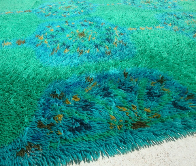 Charming Shag Rugs In Blue And Green For Charming Floor Decor Ideas