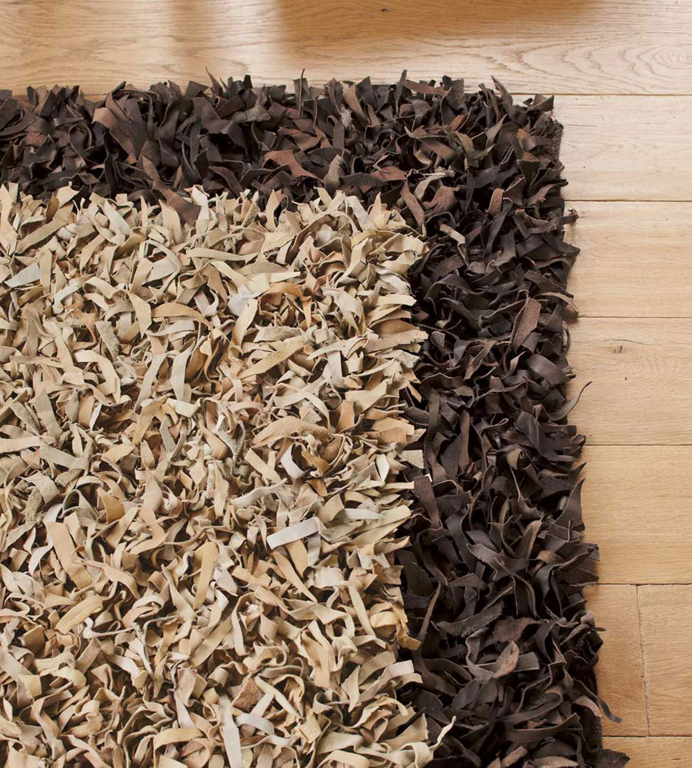 charming shag rugs in cream with dark brown rim for floor decor ideas