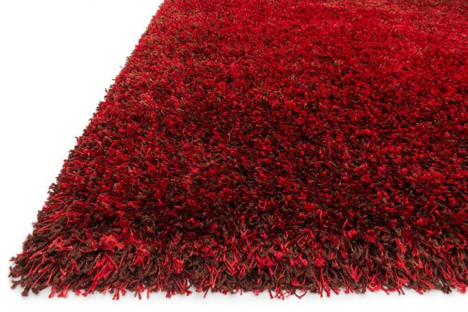 Charming Shag Rugs In Red For Floor Decor Ideas