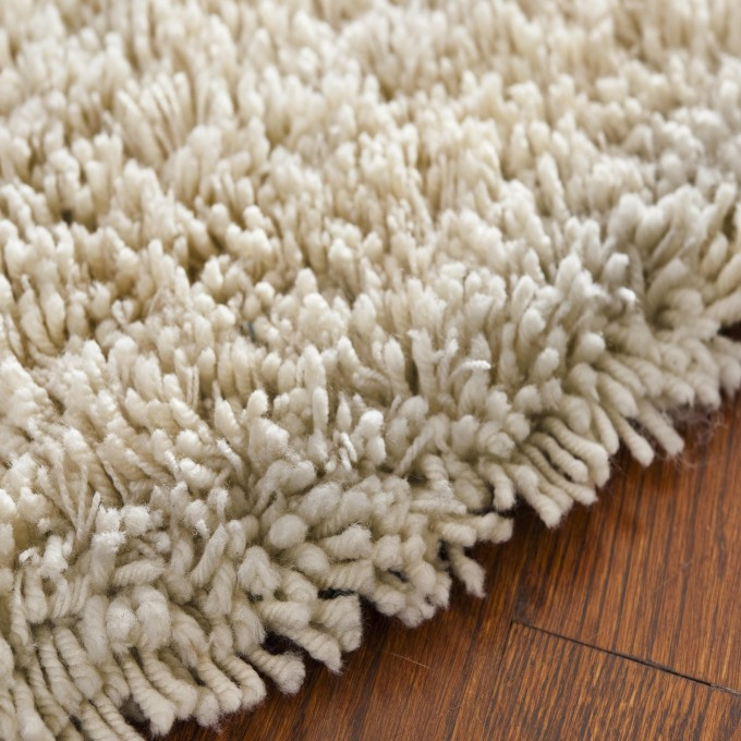 Charming Shag Rugs In Solid White For Wall Decor Ideas