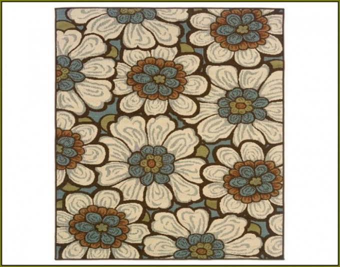 Charming Square Lowes Rugs With Floral Design Pattern For Floor Decor Ideas