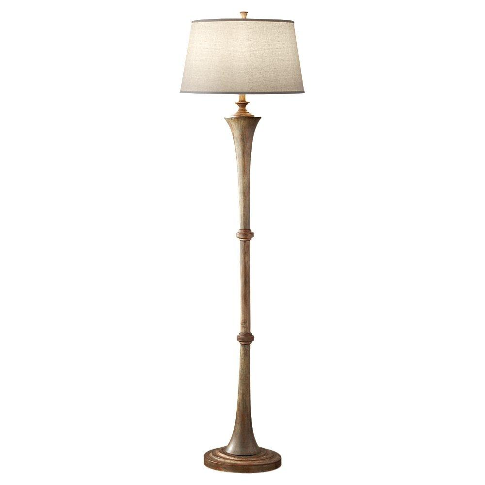 charming straight driftwood floor lamp with white head for lighting decor ideas