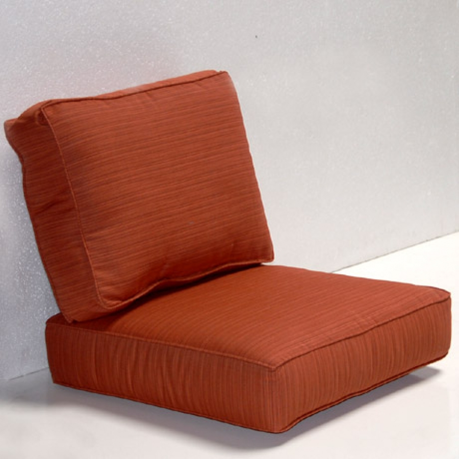 Charming Sunbrella Cushions In Orange For Comfortable Seat Ideas