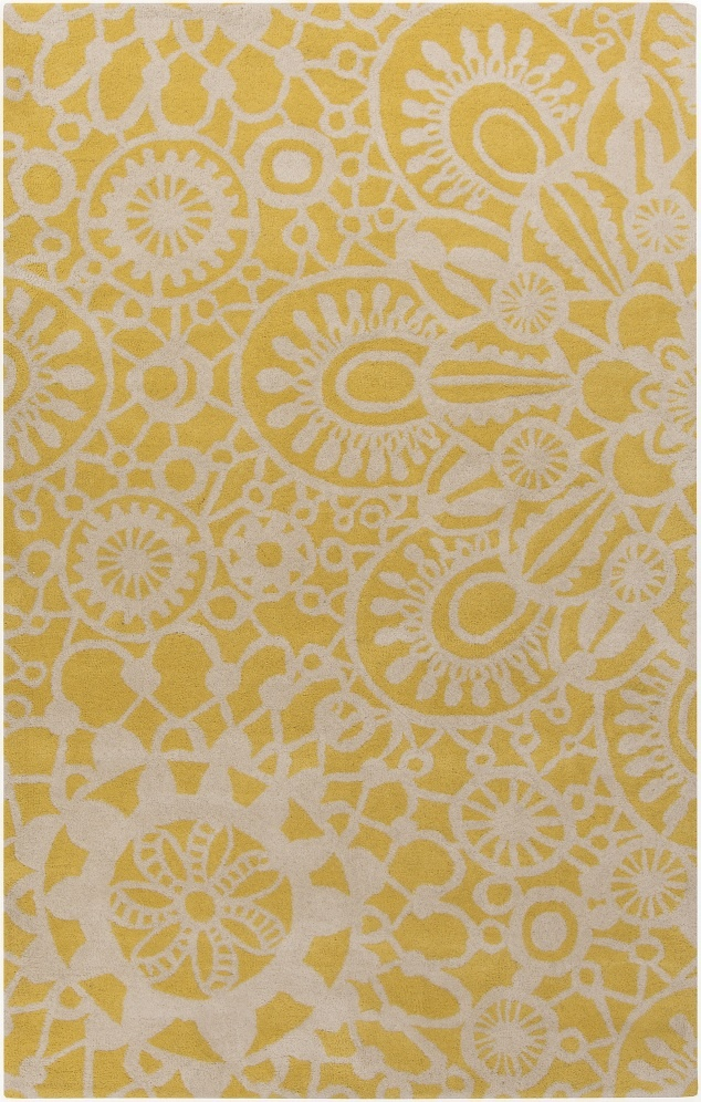 Charming Surya Rugs In Cream And Brown With Floral Motif For Floor Decor Ideas